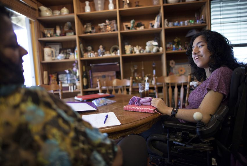Rachel Hebert, 17, and her mother, Elizabeth, were issued court summons after Rachel missed numerous days of school because of medical problems relating to her cerebral palsy.