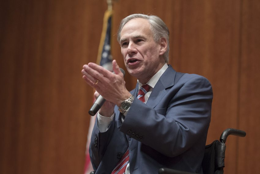 Texas Gov. Greg Abbott speaks to the Convention of States gathering at the Texas Capitol on Dec. 6, 2016