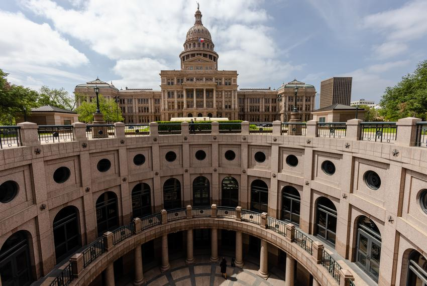 The east rotunda of the Texas Capitol on April 12, 2021.