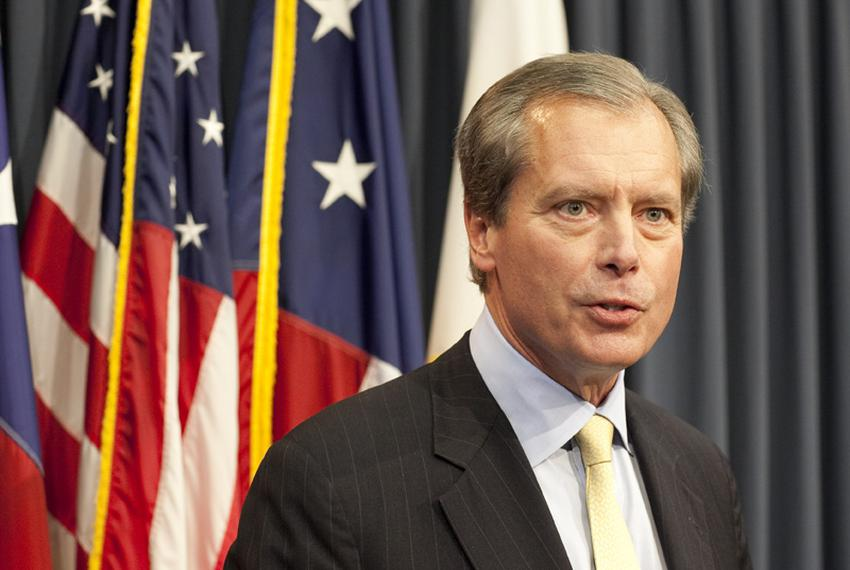 Lt. Gov. David Dewhurst talks about education funding in the final days of the legislative session on May 17, 2011.