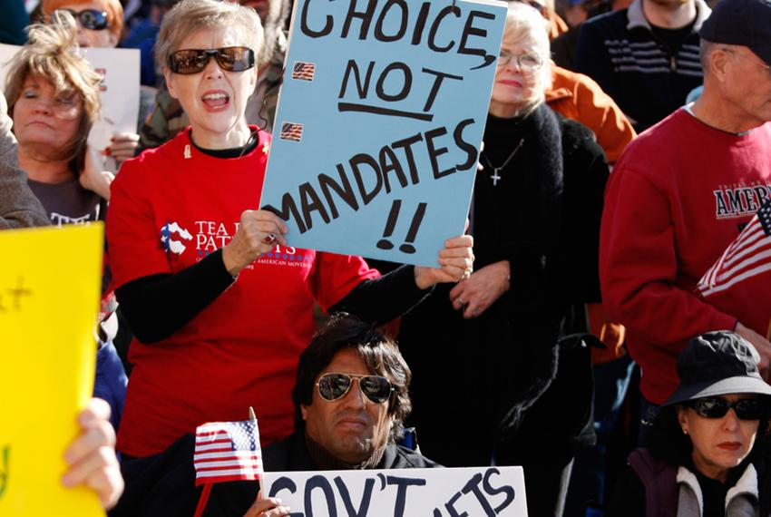 January 16, 2009: A coalition of Tea Party groups rally against Democrats and U.S. President Barack Obama Saturday afternoon…