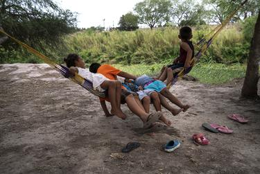 Children seeking asylum at a migrant camp in Matamoros, Mexico, in May.