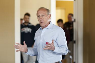 Republican candidate for House District 28, Gary Gates, speaks to supporters in Katy on Jan. 25, 2020.