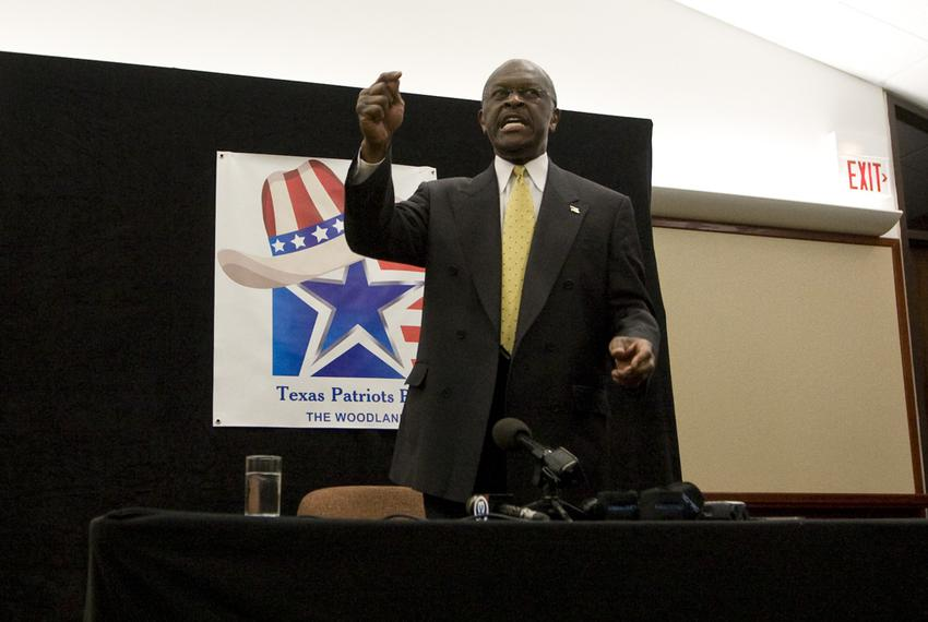 Herman Cain at Houston debate.