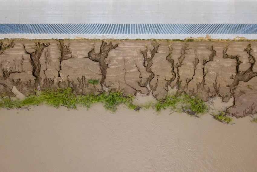 Erosion along the privately funded border wall on the banks of the Rio Grande in Mission has accelerated due to Hurricane ...