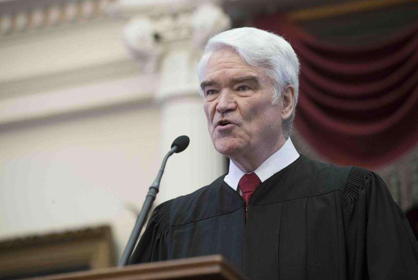 Texas Supreme Court Chief Justice Nathan Hecht delivered his State of the Judiciary Address in the state House chamber on Fe…