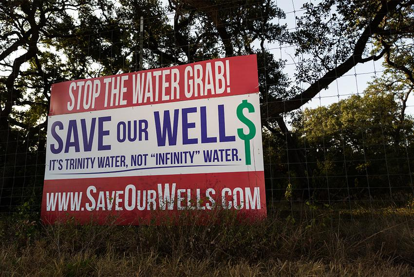 "Local residents sparked monikers including ""Save Our Wells"" and ""It's Trinity Water, Not 'Infinity' Water"" in their fight ag…"
