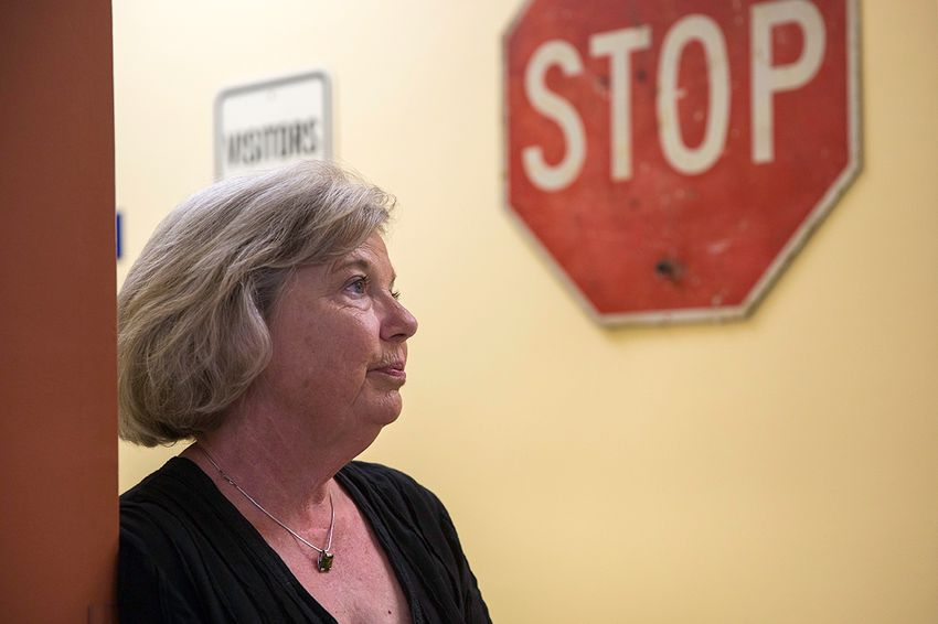 Sharon Fry, who owns Fry Auto Title Service in South Austin with her husband, is worried about a Texas Department of Motor Vehicle proposal to regulate the fees her business can charge.