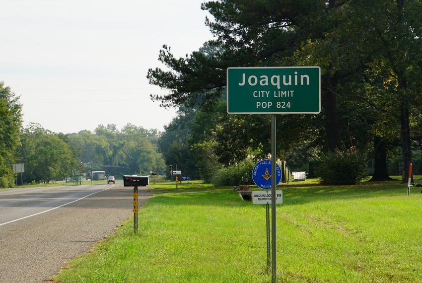 Joaquin is a small town that borders Louisiana.