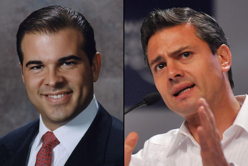 Nelson Balido, the president of the Border Trade Alliance (left) and President-elect, Enrique Peña Nieto