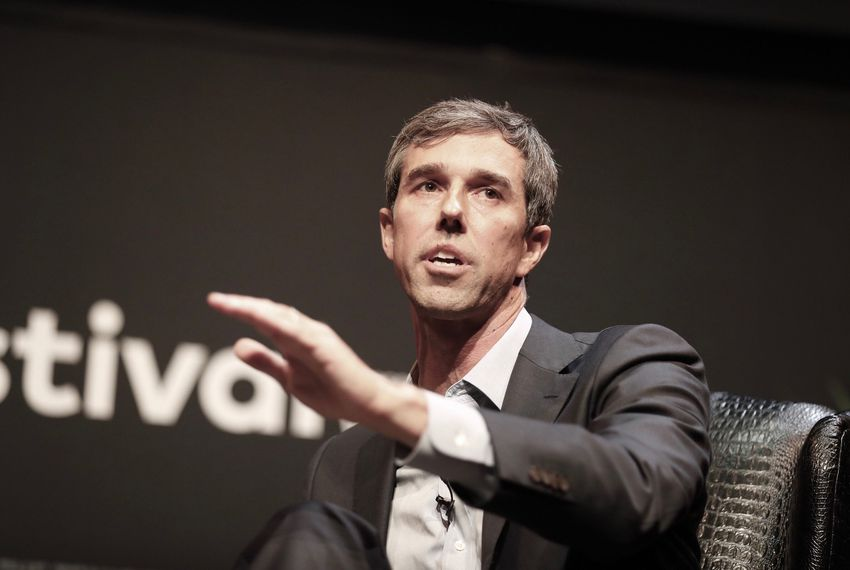Democratic nominee for U.S. Senate Beto O'Rourke speaks at The Texas Tribune Festival in Austin on Sept. 29, 2018.