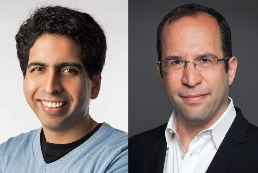 Sal Khan (l.), founder of Khan Academy, and David Coleman, president of the College Board