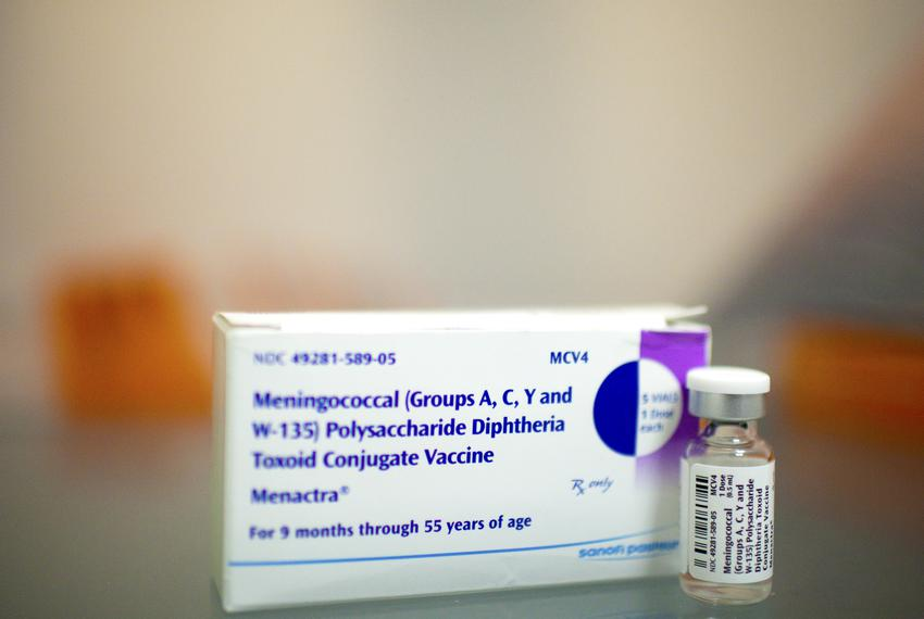 Doses of the meningitis vaccine, August 7, 2012 in Houston at Legacy Community Health Services. Each vial contains one dose.
