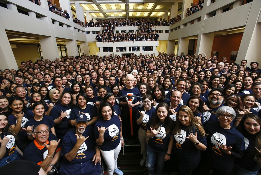 Diana Natalicio was named president of the University of Texas at El Paso in 1988 and helped transform the campus over 31 years.