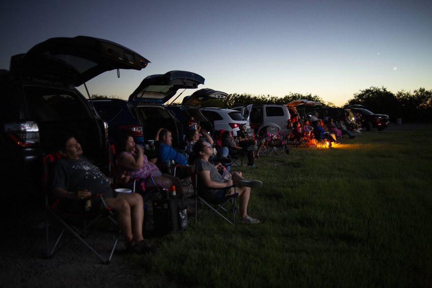 The Ortiz family traveled from McAllen for a viewing at the WesMer Drive-In Theatre in Mercedes in the Rio Grande Valley. Th…