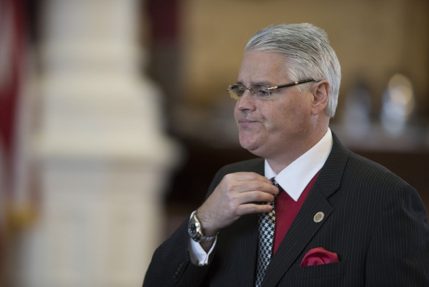 House Public Education Committee Chairman Dan Huberty walks through the House chamber on April 19, 2017.
