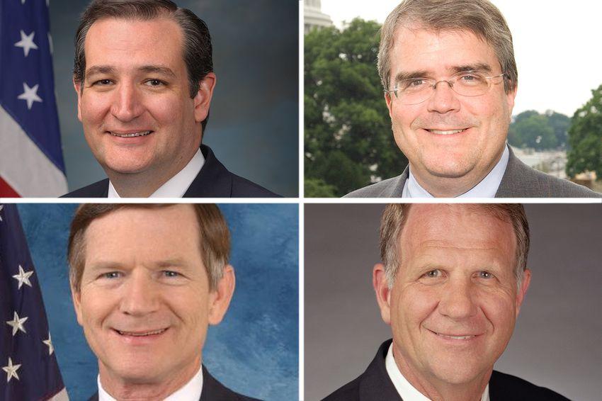 Clockwise from top left: U.S. Sen. Ted Cruz, R-Texas, and U.S. Reps. John Culberson, R-Houston, Ted Poe, R-Humble and Lamar Smith, R-San Antonio.