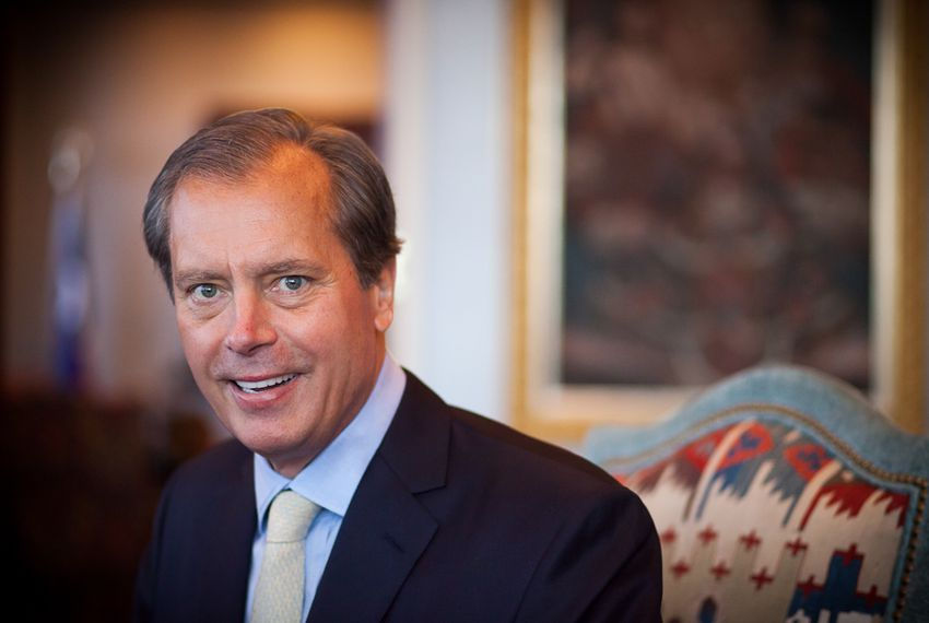 Lt. Gov. David Dewhurst in his office at Falcon Seaboard in Houston Wednesday, April 25, 2012.