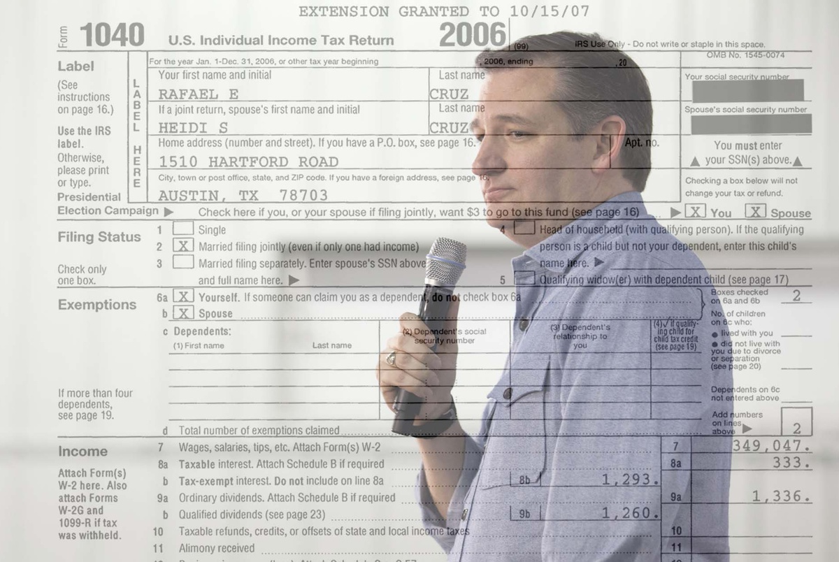Pressing Donald Trump for Tax Info, Ted Cruz Releases His ...