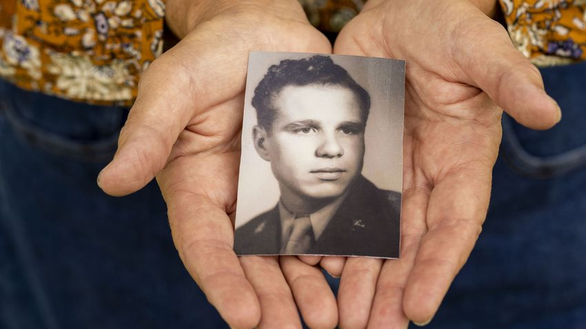 Mary Kay Dieterich, the daughter of the late Eugene Forti, a WW2 veteran who died at the Ambrosio Guillen Texas State Vetera…
