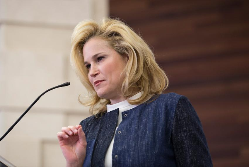 Heidi Cruz campaigned for her husband, Republican presidential candidate Ted Cruz, in Beaumont, Texas, on Feb. 26, 2016.