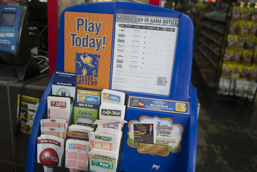 A Texas Lottery display in Austin on April 3, 2017.