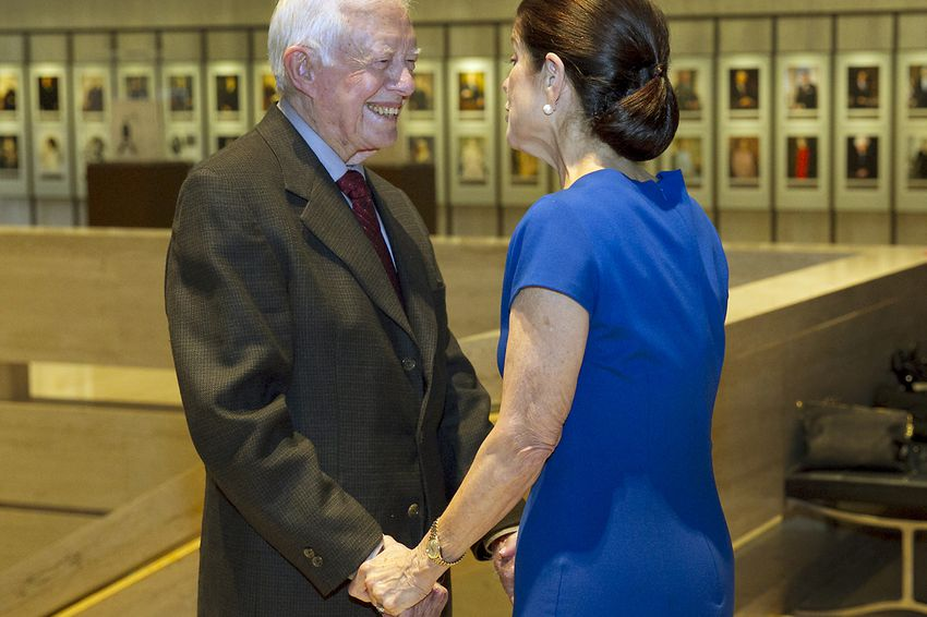President Jimmy Carter and Luci Baines Johnson at the LBJ Library on April 8th, 2014