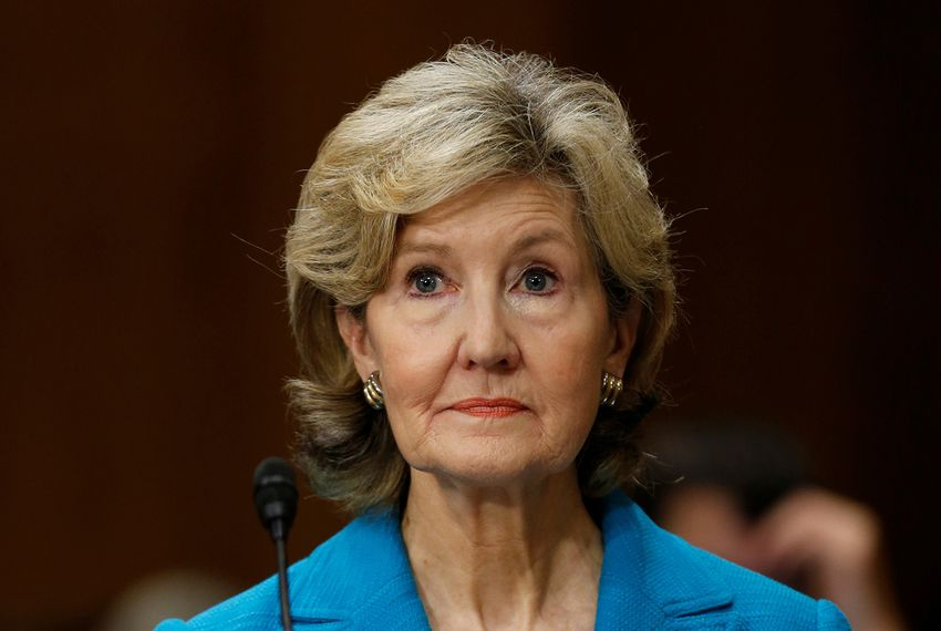 Kay Bailey Hutchinson, President Donald Trump's nominee for ambassador to NATO, testifies at the Senate Foreign Relations Committee hearing on her nomination in Washington on July 20, 2017.
