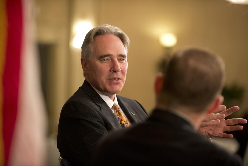 UT Athletic Director Steve Patterson talks about new football coach Charlie Strong at TribLive on May 15, 2014.