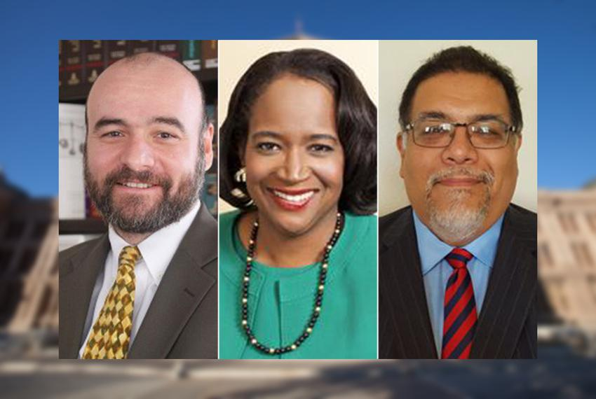 "(L.-R.) Jose ""Chito"" Vela III, Sheryl Cole and Gabriel Nila."