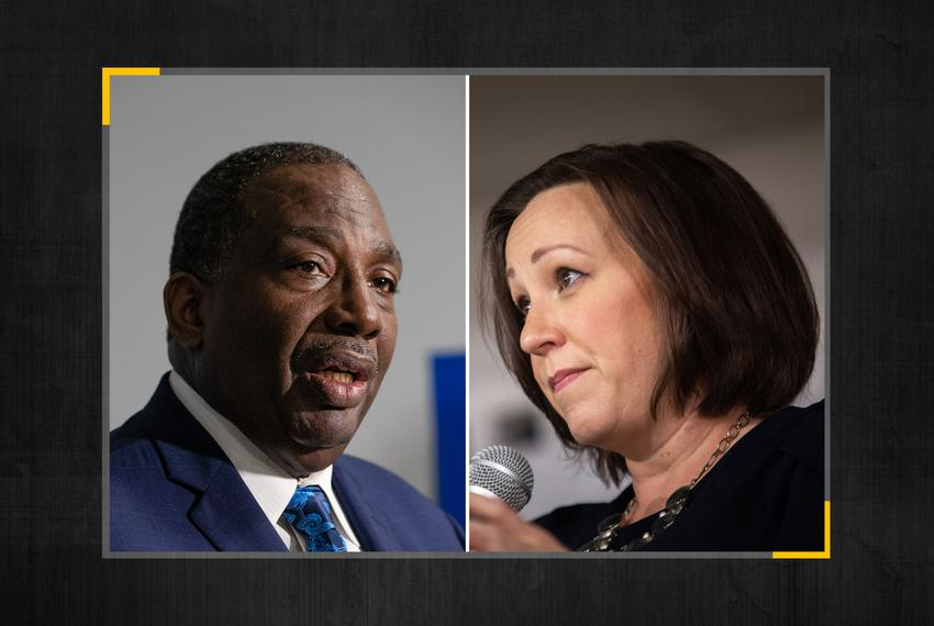 State Sen. Royce West, D-Dallas, and MJ Hegar will face each other in the May runoff that will decide who will be the Demo...