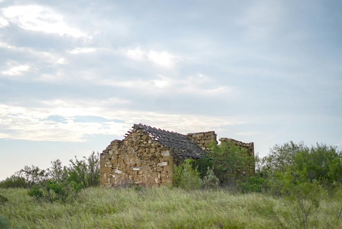Ruins of a settlement called Rancho Dolores dating back to 1757 sit on Gerardo Vargas' property near the Rio Grander River.  June 23, 2021.