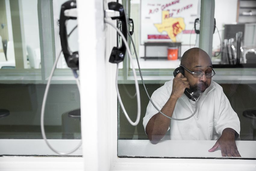 Omar Edwards, who has been incarcerated at the Telford prison in New Boston for about four years, talks about how short staffing affects inmates on March 21, 2018.