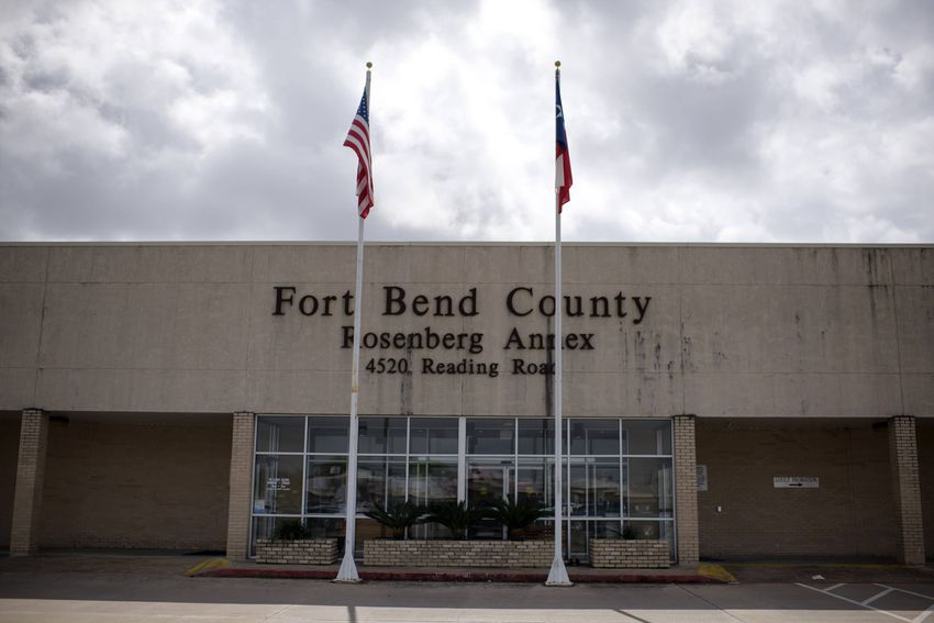 The Fort Bend County Rosenberg Annex center is also serving as a call center for coronavirus concerns in Rosenberg, on March…