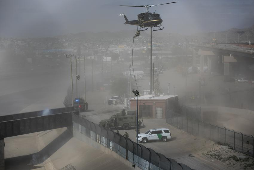 """The Border Patrol participates in """"operational readiness exercises"""" to prepare for the caravan moving through Mexico and hea…"""