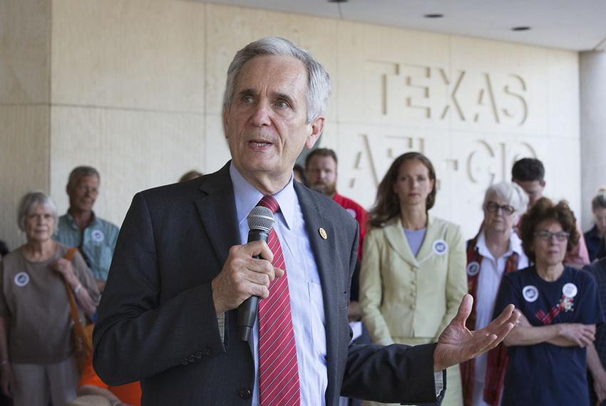 U.S. Rep. Lloyd Doggett, D-Austin, at a gun control rally June 29, 2016 near the Texas Capitol.