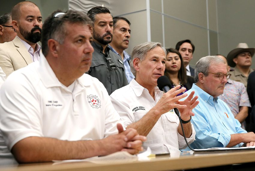 Gov. Greg Abbott spoke at a press conference after the recent mass shooting in El Paso.
