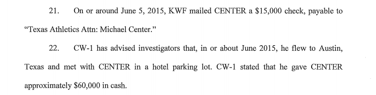 An excerpt of an affidavit filed in Center's case.