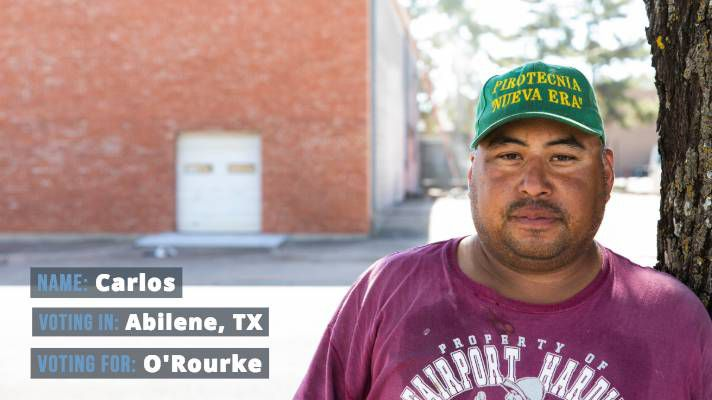 "Carlos, 39, who declined to give his last name, voted O'Rourke. ""People keep talking about the migrant caravan,"" he said. ""People here are worried about them coming to take away their jobs, but how many people want to work for just a few dollars an hour?"""