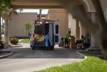 The ambulance drop-off at DHR Health in Edinburg.