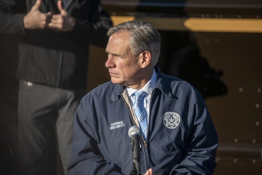 Gov. Greg Abbott at a press conference in Austin on Dec. 17, 2020.