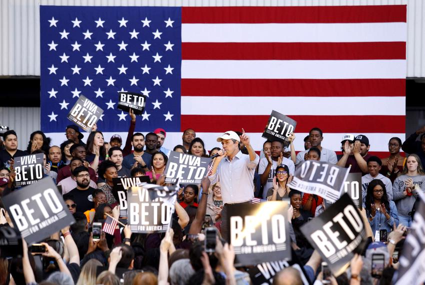 Presidential candidate Beto O'Rourke speaks at a rally in Houston on March 30, 2019. Houston is O'Rourke's second campaign s…