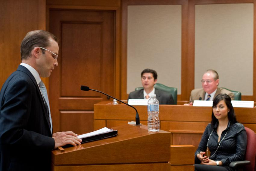 State Board of Education member-elect Thomas Ratliffe speaks to a special hearing on history at the Capitol Extension.