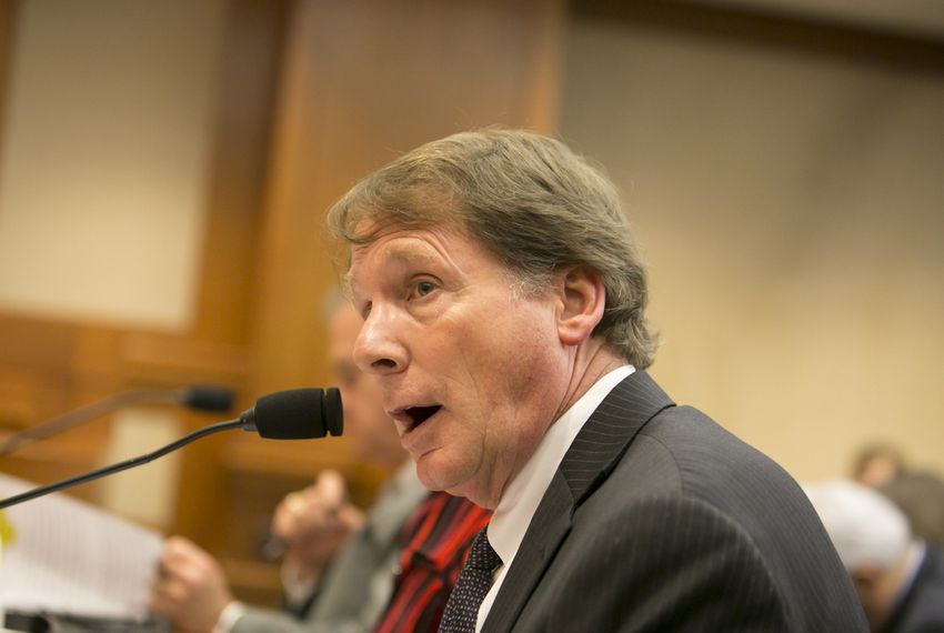 Robert Duncan answers questions during a House Higher Education Committee hearing in May 2016. Duncan stepped down as chancellor of the Texas Tech University System on Sept. 1.