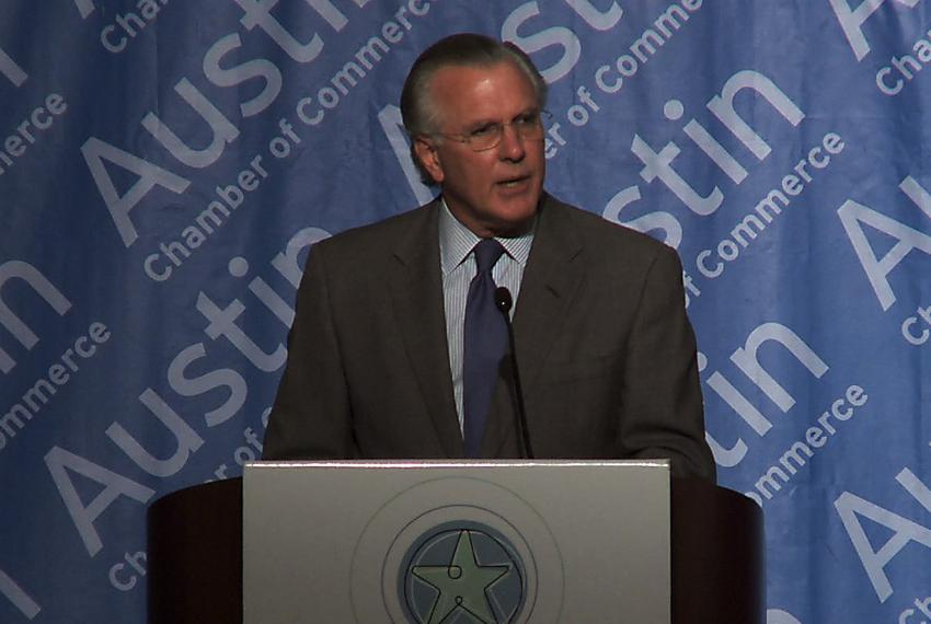 President and CEO of the Federal Reserve Bank of Dallas speaks at the Greater Austin Chamber of Commerce annual Economic For…