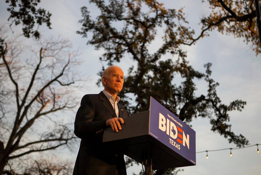 Democratic presidential candidate and former Vice President Joe Biden speaks at a community event in San Antonio on Dec. 13,…