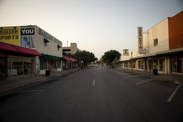 Downtown McAllen on July 1, 2020.