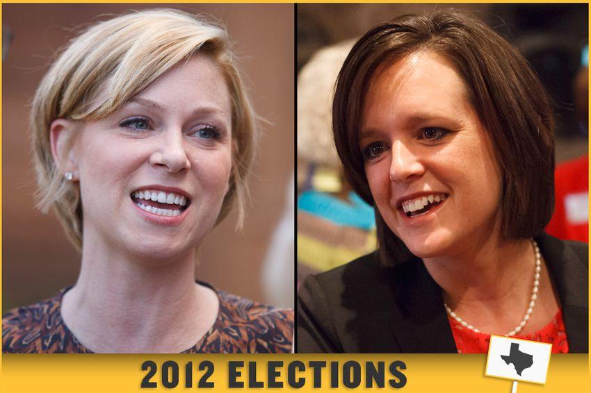 State Rep. Sarah Davis, R-Houston, and her opponent, Democrat Ann Johnson.