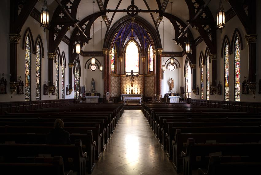 The interior of St. Mary Cathedral in downtown Austin on Jan. 30, 2019.