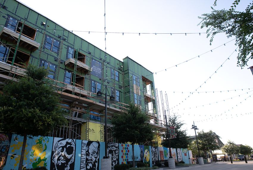 New apartments being built in Dallas' Deep Ellum neighborhood in June 2018.